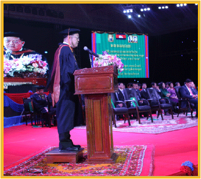 welcoming remarks at the graduation ceremony